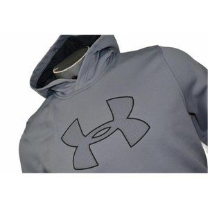 16377 Mens Under Armour Hoodie Athletic Size Gray